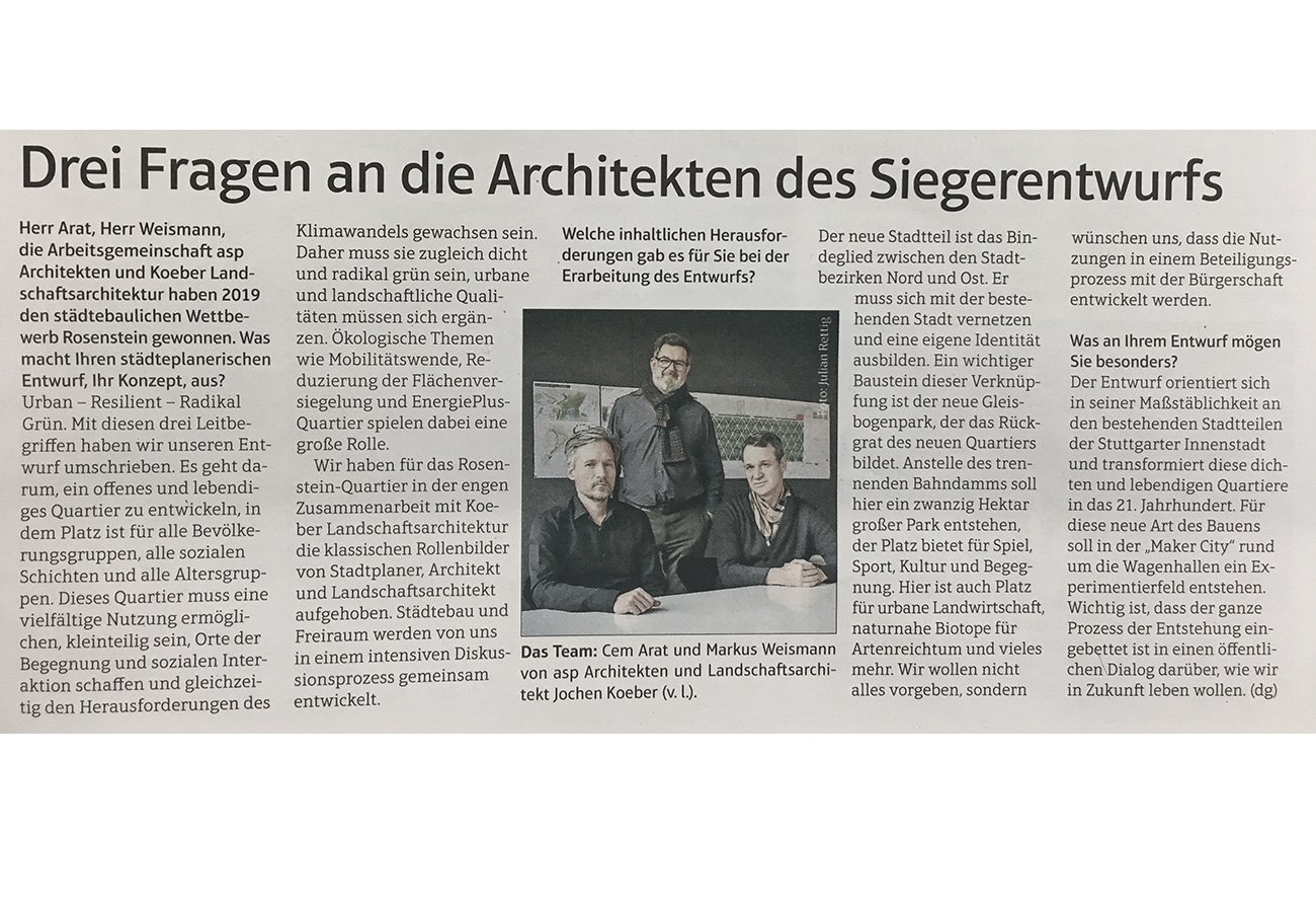 Amtsblatt Stuttgart Rosenstein Interview